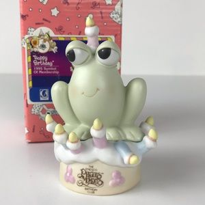 Precious Moments Birthday Frog 1995 membership